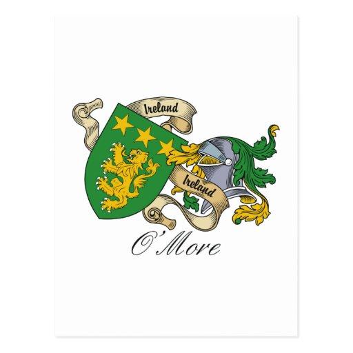 Escudo de la familia de O'More Tarjeta Postal