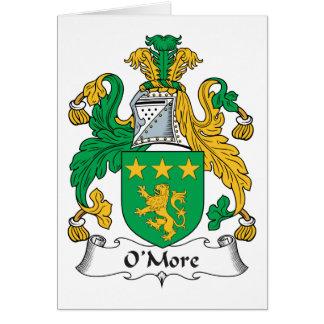 Escudo de la familia de O'More Tarjetón