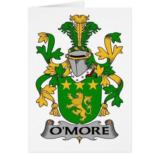 Escudo de la familia de O'More Tarjeton