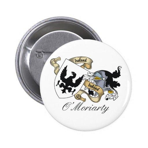 Escudo de la familia de O'Moriarty Pin Redondo De 2 Pulgadas