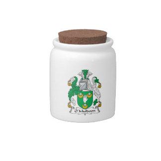 Escudo de la familia de O'Muldoon Jarra Para Caramelo