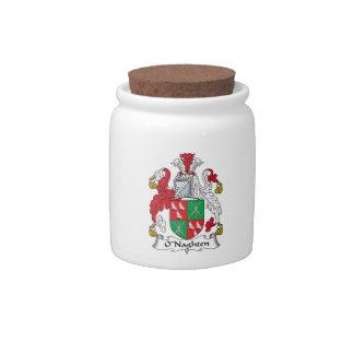 Escudo de la familia de O'Naghten Jarras Para Caramelos