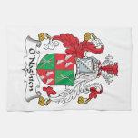 Escudo de la familia de O'Naghten Toalla De Mano