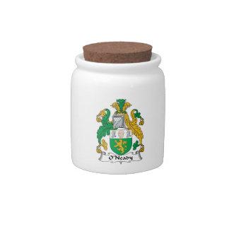 Escudo de la familia de O'Neady Platos Para Caramelos