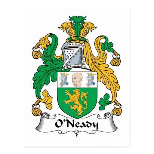 Escudo de la familia de O'Neady Tarjeta Postal