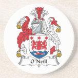 Escudo de la familia de O'Neill Posavasos Personalizados