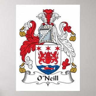 Escudo de la familia de O'Neill Póster