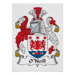 Escudo de la familia de O'Neill Posters