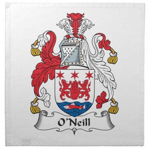 Escudo de la familia de O'Neill Servilleta