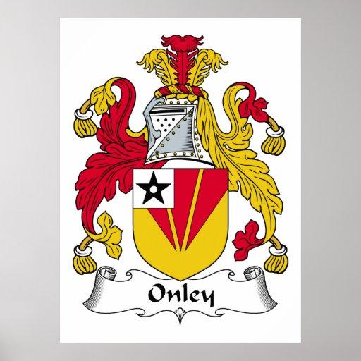 Escudo de la familia de Onley Póster
