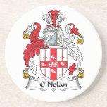 Escudo de la familia de O'Nolan Posavasos Personalizados