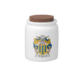 Escudo de la familia de Ontiveros Platos Para Caramelos