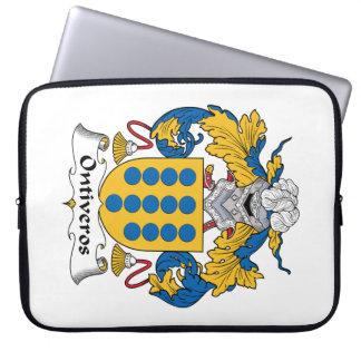 Escudo de la familia de Ontiveros Funda Portátil