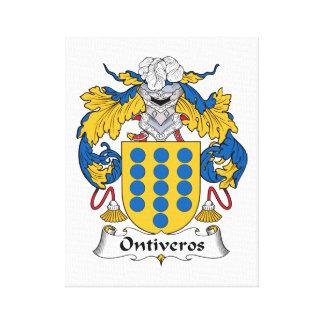 Escudo de la familia de Ontiveros Lienzo Envuelto Para Galerias