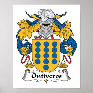 Escudo de la familia de Ontiveros Impresiones