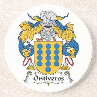 Escudo de la familia de Ontiveros Posavasos Cerveza