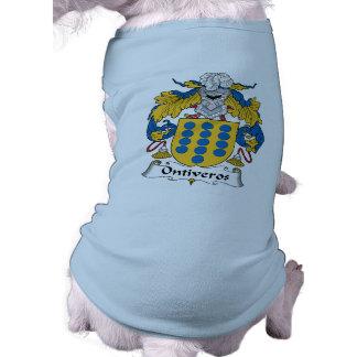 Escudo de la familia de Ontiveros Ropa Para Mascota