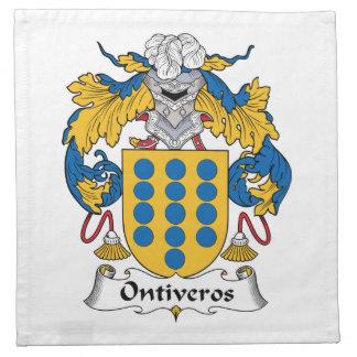 Escudo de la familia de Ontiveros Servilletas