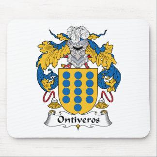 Escudo de la familia de Ontiveros Alfombrillas De Ratón