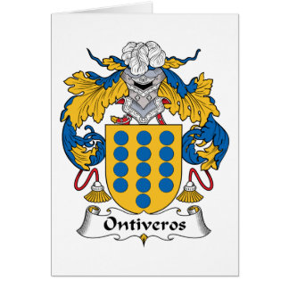 Escudo de la familia de Ontiveros Tarjetas