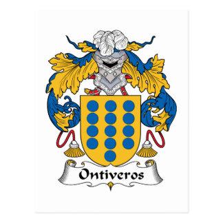 Escudo de la familia de Ontiveros Postal