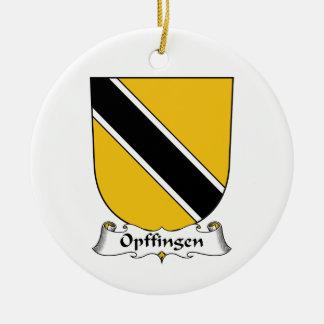Escudo de la familia de Opffingen Adorno Navideño Redondo De Cerámica