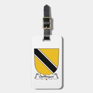 Escudo de la familia de Opffingen Etiquetas Maleta