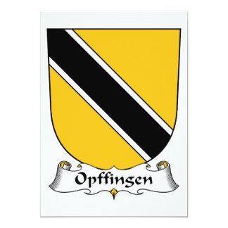 Escudo de la familia de Opffingen Invitación 12,7 X 17,8 Cm