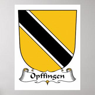 Escudo de la familia de Opffingen Posters