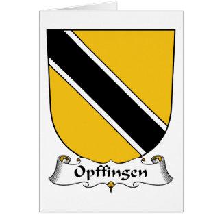 Escudo de la familia de Opffingen Tarjeta De Felicitación