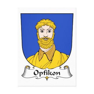 Escudo de la familia de Opfikon Lienzo Envuelto Para Galerias