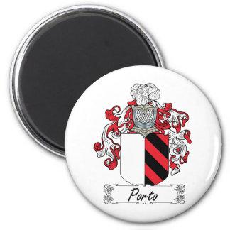 Escudo de la familia de Oporto Imán Redondo 5 Cm