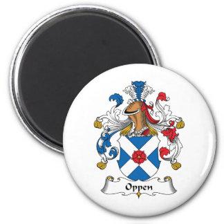 Escudo de la familia de Oppen Imán Redondo 5 Cm