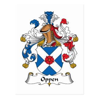 Escudo de la familia de Oppen Postal