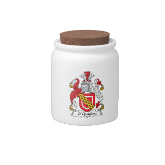 Escudo de la familia de O'Quigley Platos Para Caramelos