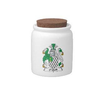 Escudo de la familia de O'Quill Jarra Para Caramelo