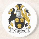 Escudo de la familia de O'Quilty Posavasos Para Bebidas
