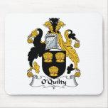 Escudo de la familia de O'Quilty Tapete De Ratones