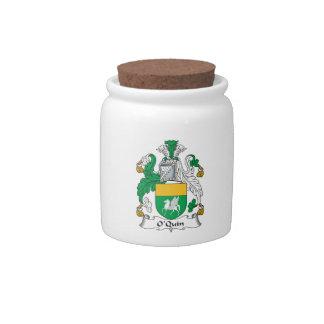 Escudo de la familia de O'Quin Jarras Para Caramelos