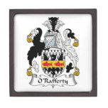Escudo de la familia de O'Rafferty Caja De Recuerdo De Calidad