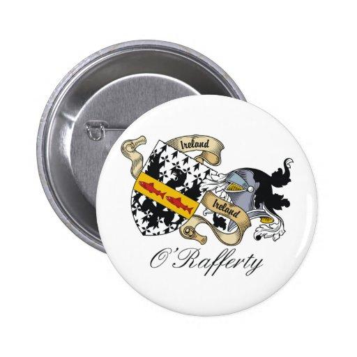 Escudo de la familia de O'Rafferty Pin