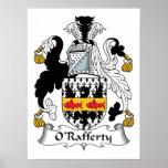 Escudo de la familia de O'Rafferty Posters