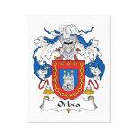 Escudo de la familia de Orbea Impresión En Lienzo Estirada