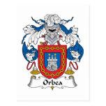Escudo de la familia de Orbea Tarjetas Postales