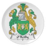 Escudo de la familia de O'Reilly Plato De Comida