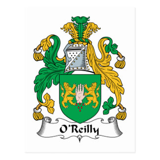 Escudo de la familia de O'Reilly Tarjetas Postales