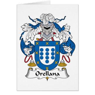 Escudo de la familia de Orellana Tarjeta De Felicitación