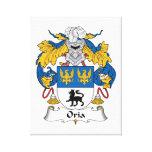 Escudo de la familia de Oria Impresión En Lona Estirada
