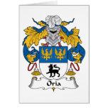 Escudo de la familia de Oria Tarjeton