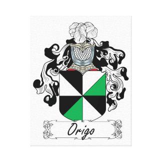 Escudo de la familia de Origo Impresión En Tela